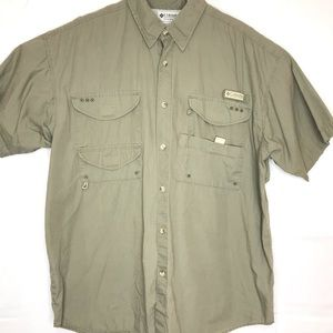 Columbia PFG Cotton Vented Button Shirt Large